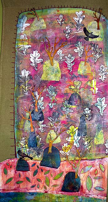 The Woods at Weem - Textile Wall Hanging
